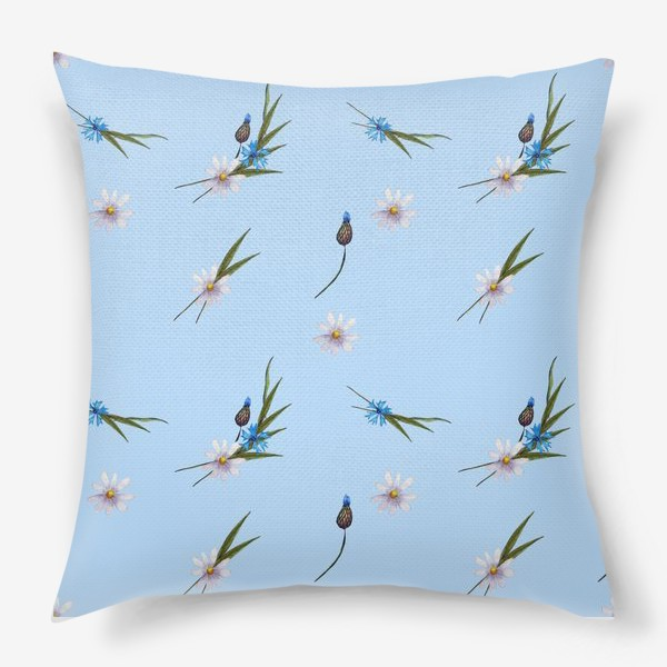Подушка «васильки и ромашки »