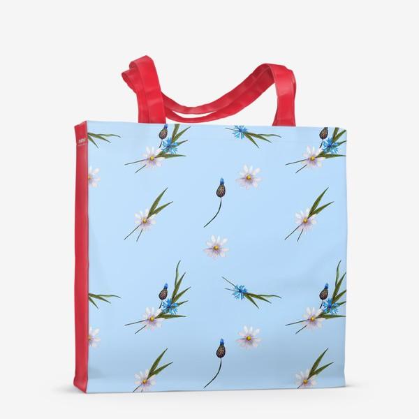 Сумка-шоппер «васильки и ромашки »
