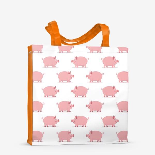 Сумка-шоппер «Паттерн со свинками»