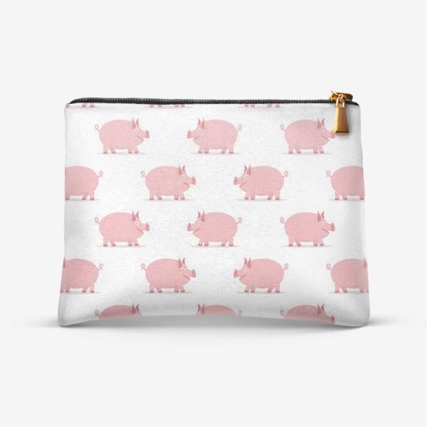 Косметичка «Паттерн со свинками»