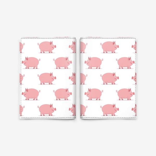 Обложка для паспорта «Паттерн со свинками»