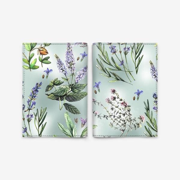 Обложка для паспорта «Душистые летние травы»