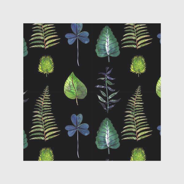 Скатерть «Ботаника: Листья на черном»