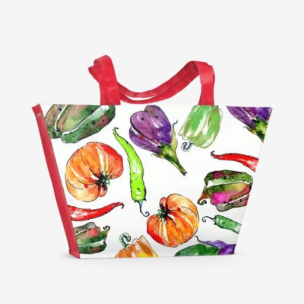 Пляжная сумка «Овощи урожай»