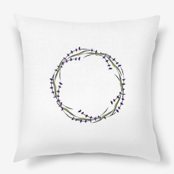 Подушка «венок из трав»