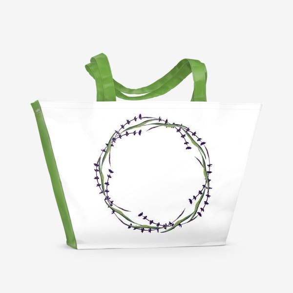 Пляжная сумка «венок из трав»