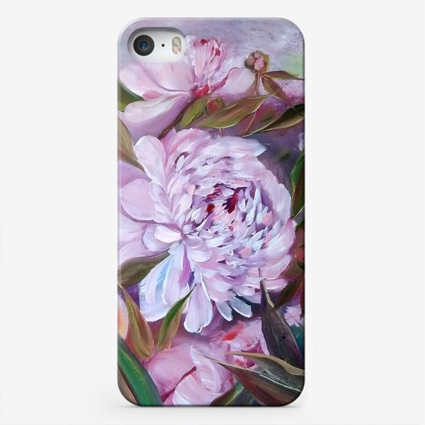 Чехол iPhone «Нежные розовые пионы»