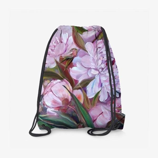 Рюкзак «Нежные розовые пионы»