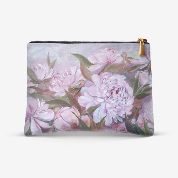 Косметичка «Нежные розовые пионы»