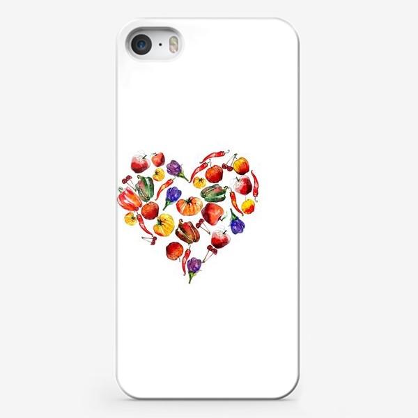 Чехол iPhone «овощное сердце»