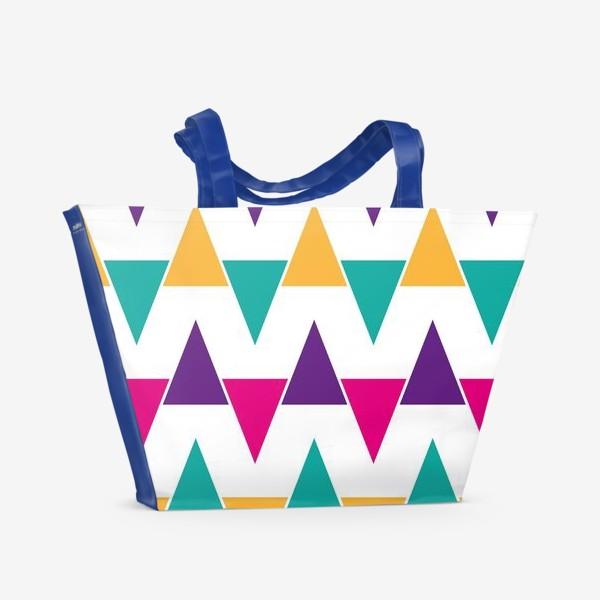 Пляжная сумка «Яркий абстрактный узор»