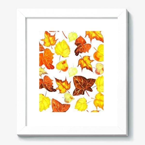 Картина «оранжевые осенние листья»