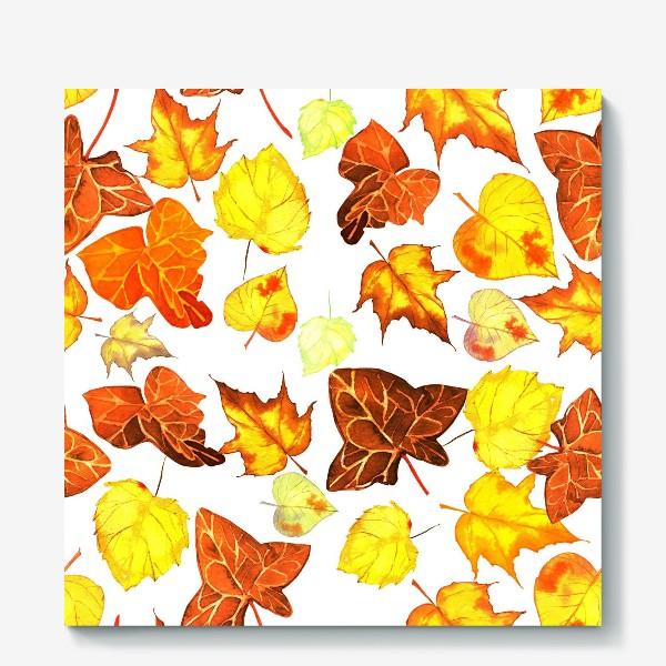 Холст «оранжевые осенние листья»