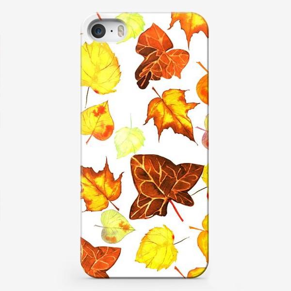Чехол iPhone «оранжевые осенние листья»