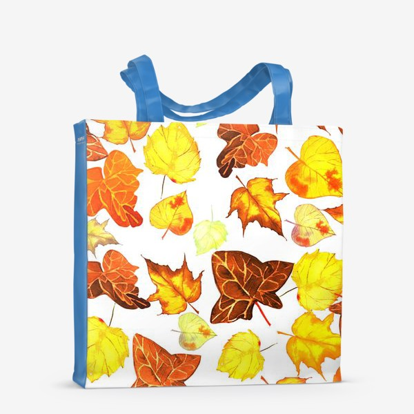 Сумка-шоппер «оранжевые осенние листья»