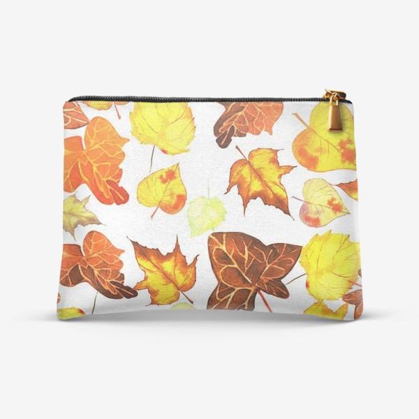 Косметичка «оранжевые осенние листья»