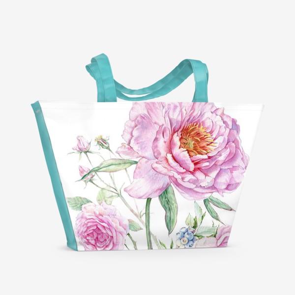 Пляжная сумка «Флористика»