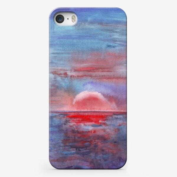 Чехол iPhone «закат на море 3»