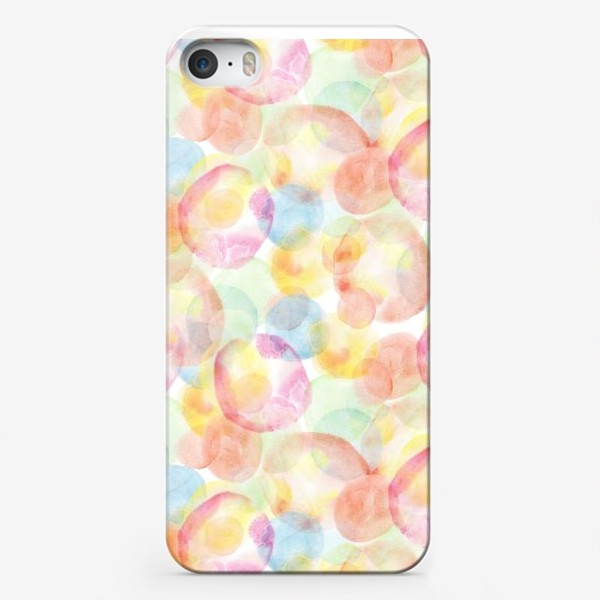 Чехол iPhone «Акварельные шарики»