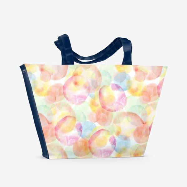 Пляжная сумка «Акварельные шарики»