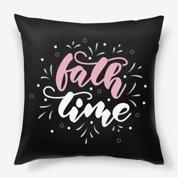 Подушка «bath time poster»