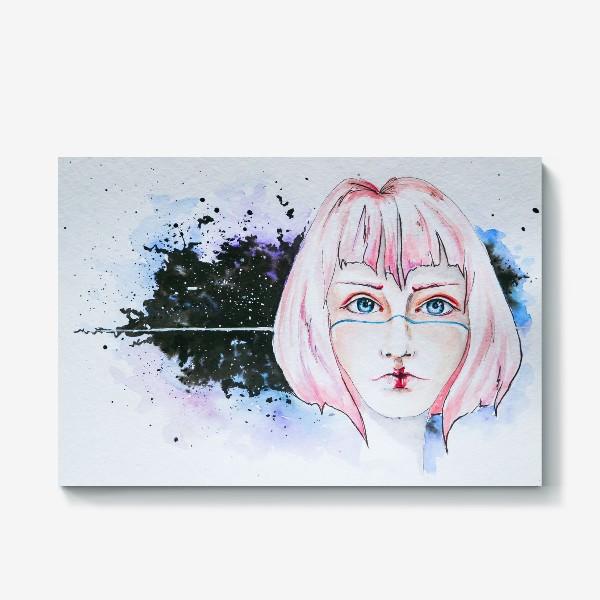 Холст «Девушка из космоса»