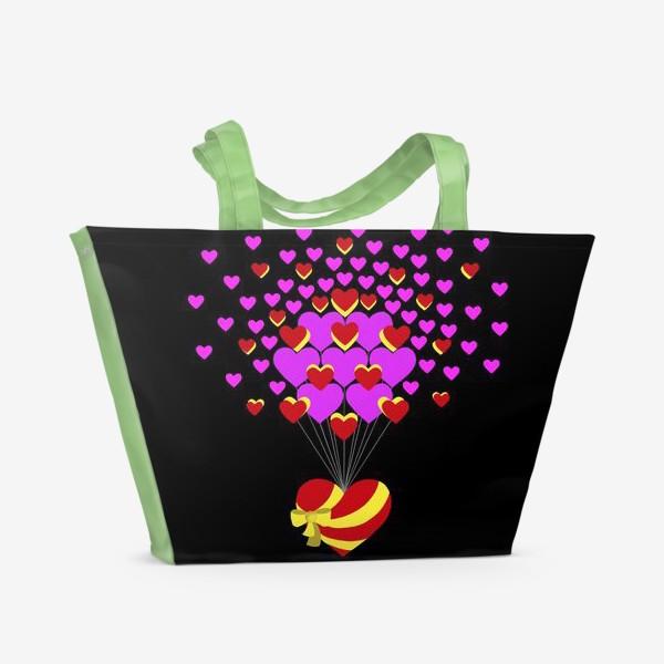 Пляжная сумка «Цветущее сердце»
