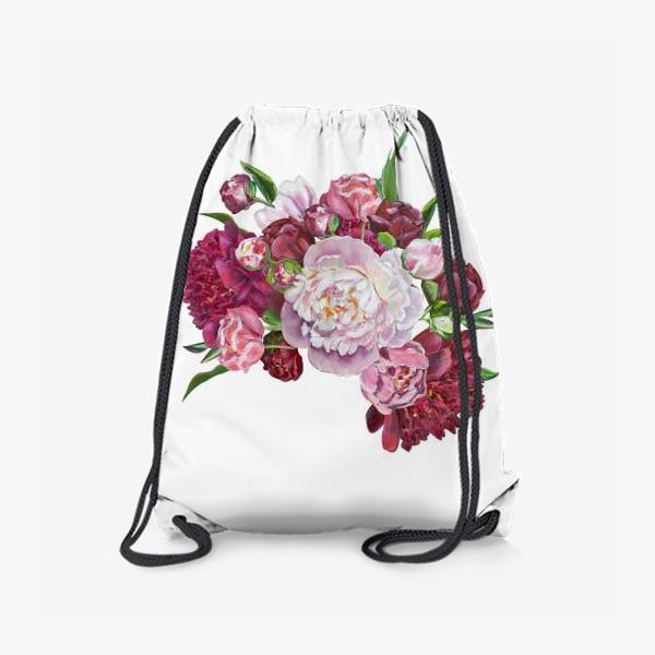 Рюкзак «Букет пионов»