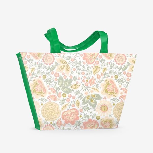 Пляжная сумка «Персиковый шик»