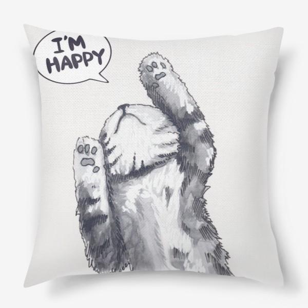 Подушка «Счастливый кот»