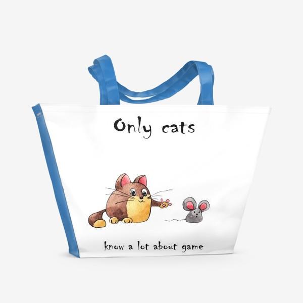 Пляжная сумка «Кот и мышь»