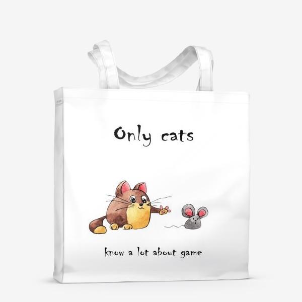 Сумка-шоппер «Кот и мышь»