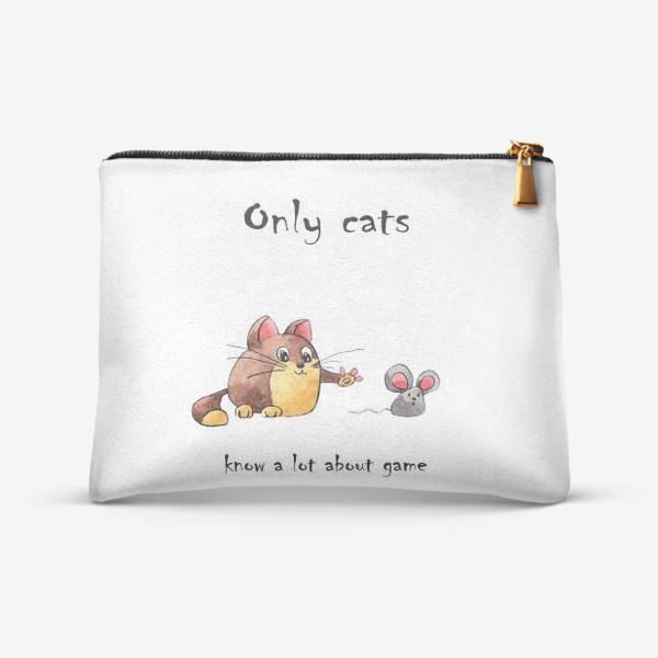 Косметичка «Кот и мышь»