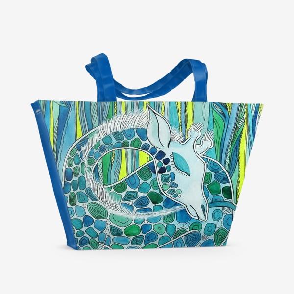 Пляжная сумка «Спящий Жираф»