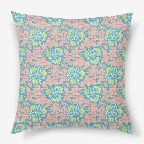 Подушка «Розовые одуванчики»