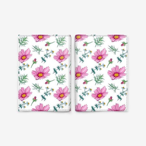Обложка для паспорта «Полевые цветы»