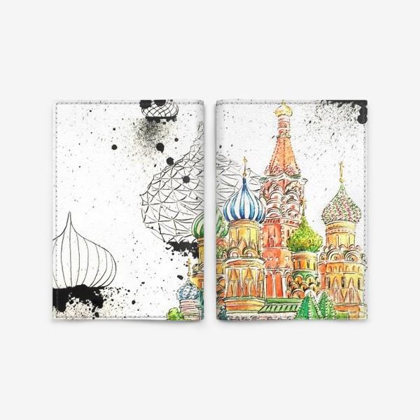 Обложка для паспорта «Храм Василия Блаженного»