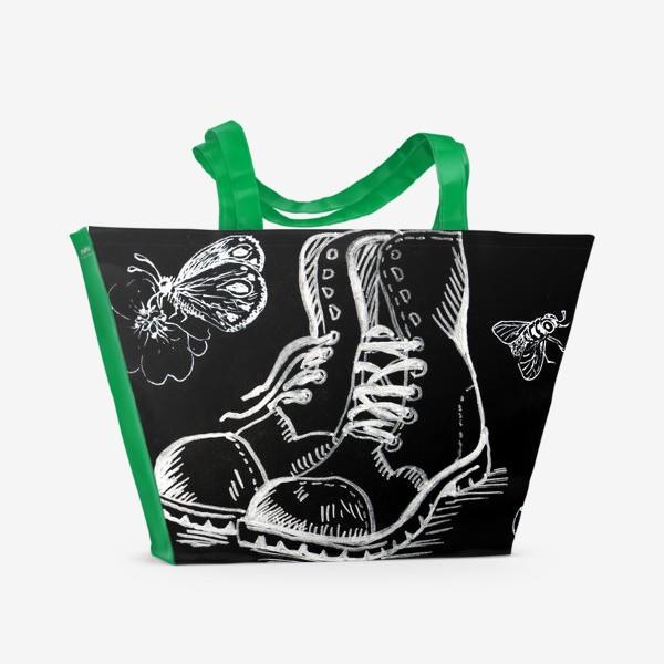Пляжная сумка «Боты и насекомые»