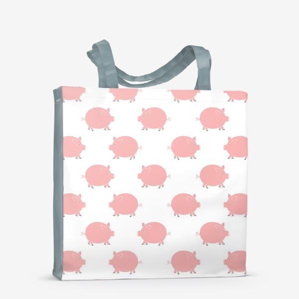 Сумка-шоппер «Паттерн с хрюшками»