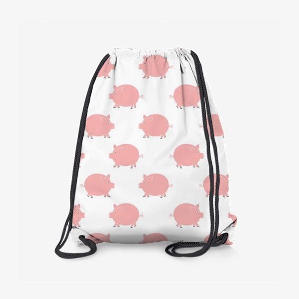 Рюкзак «Паттерн с хрюшками»