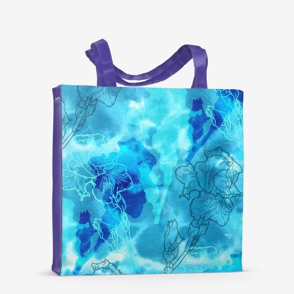 Сумка-шоппер «Голубые ирисы»