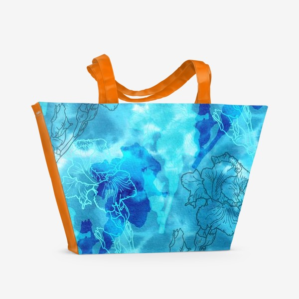 Пляжная сумка «Голубые ирисы»