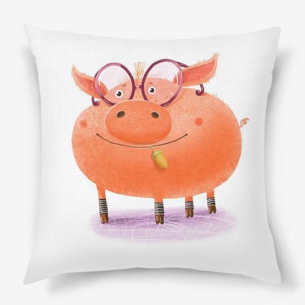 Подушка «Поросенок в очках»