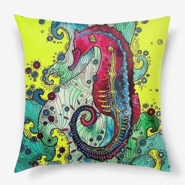 Подушка «Морской конек»