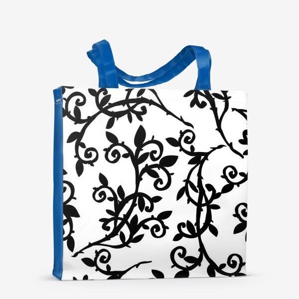 Сумка-шоппер «ветки графика»