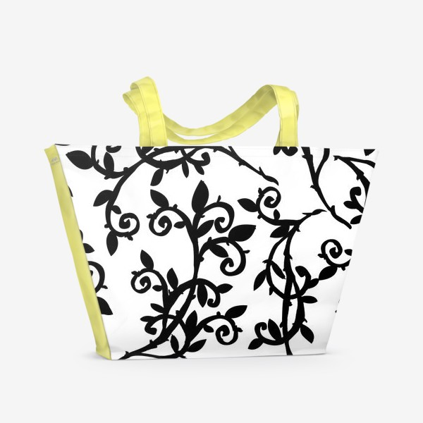 Пляжная сумка «ветки графика»