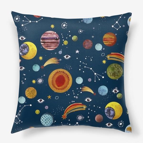 Подушка «Межпланетный космический паттерн.»