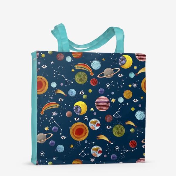 Сумка-шоппер «Межпланетный космический паттерн.»