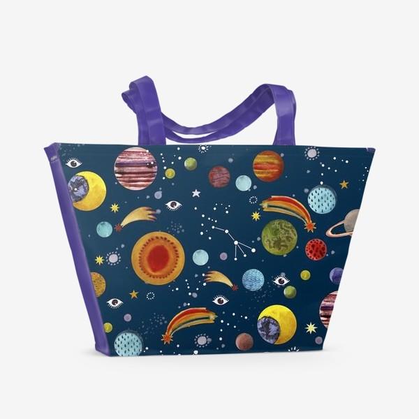 Пляжная сумка «Межпланетный космический паттерн.»