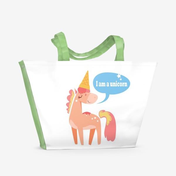 Пляжная сумка «Единорог»
